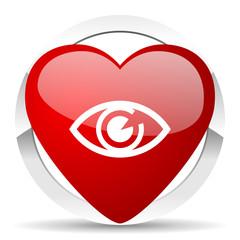 eye valentine icon view sign