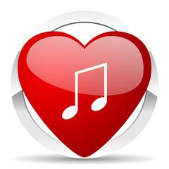 music valentine icon note sign