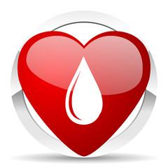 water drop valentine icon