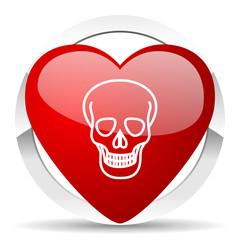 skull valentine icon death sign