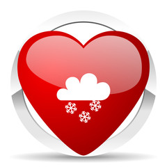 snowing valentine icon waether forecast sign
