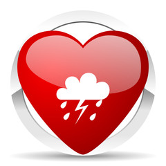 storm valentine icon waether forecast sign