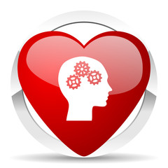 head valentine icon human head sign