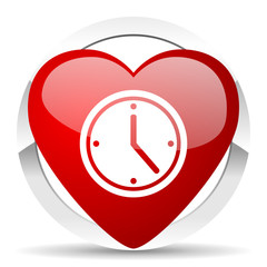 time valentine icon watch sign