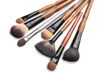 brushes for make-up isolated