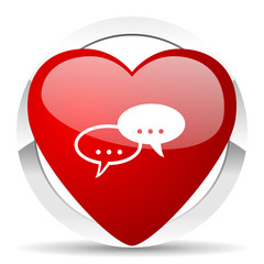 forum valentine icon chat symbol bubble sign
