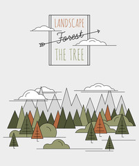 vector illustration Forest style flat