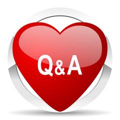 question answer valentine icon