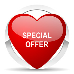 special offer valentine icon