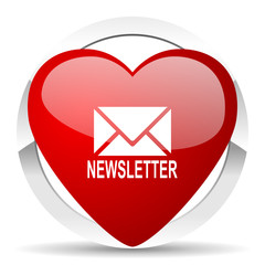 newsletter valentine icon