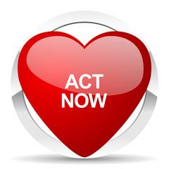 act now valentine icon
