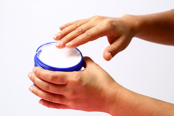 Moisturize your dry hands.