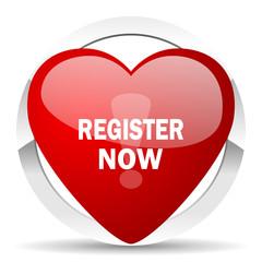 register now valentine icon