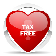 tax free valentine icon