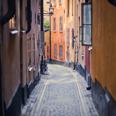 Beautiful view of Stockholm Old Town, Gamla Stan, Sweden