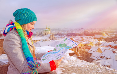 Cute traveler girl