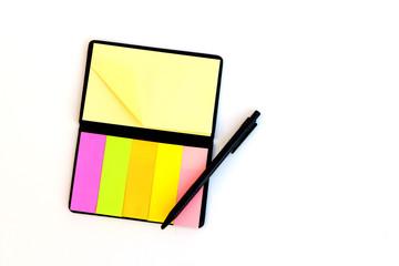 memory paper and black pen