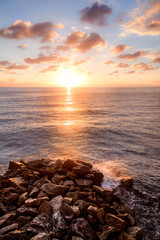 sunset and rock