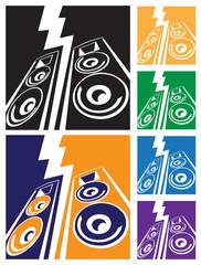 powerful speaker system symbol