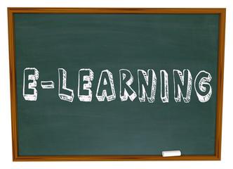 E-Learning School Chalkboard Online Internet Web Based Education