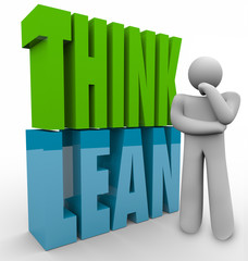 Think Lean Person Thinking Efficient Business Management Product
