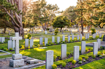 veterans graves at Ross Bay Cemetery, Victoria, BC, Canada