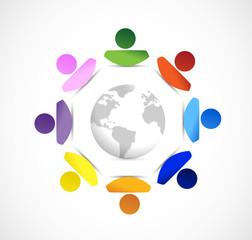 diversity around the globe. illustration