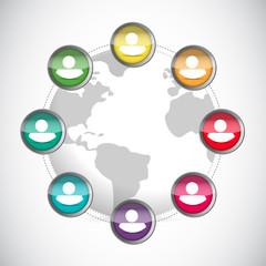 people diversity illustration design
