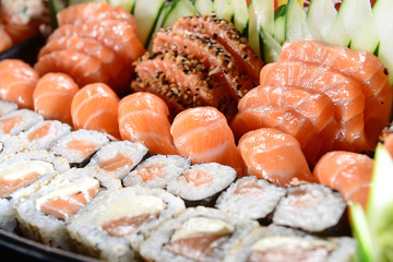 Mix of sushis
