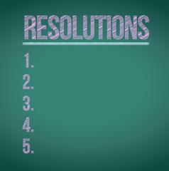 resolutions list illustration design