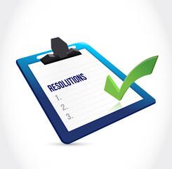 resolutions check list clipboard illustration