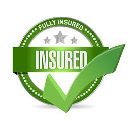 insured check mark seal illustration