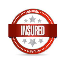 insured red seal illustration design