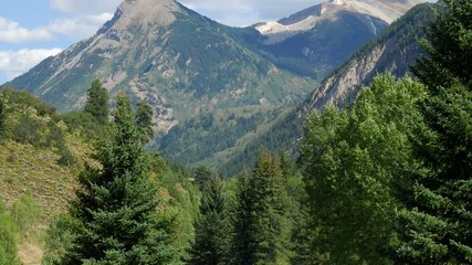 Tilt shot of Colorado Rocky Mountains