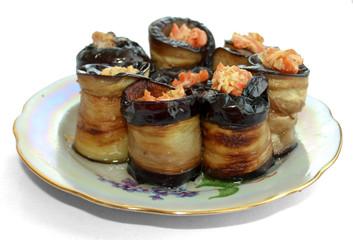 roll eggplant