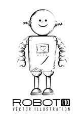 Robot design over white background vector illustration