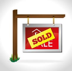 Real estate over white background vector illustration