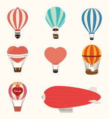 Airballoon design over white backgroundvector illustration