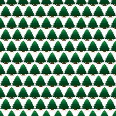 Vector pixel art seamless tree background