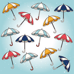 Umbrella design over blue background vector illustration