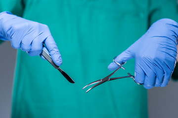 Doctor hands during surgery