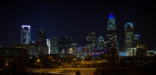 Colorful Charlotte Skyline 2