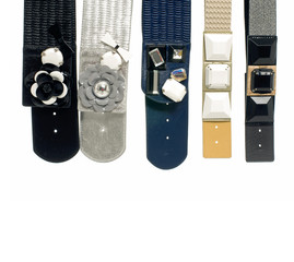 colorful belts display