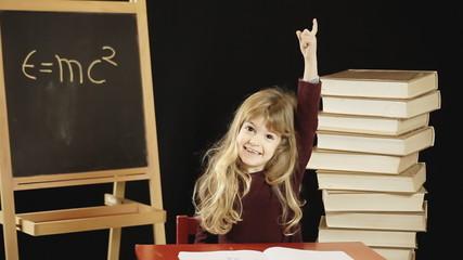Little girl school question answer