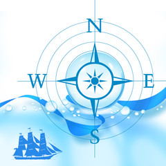 コンパスと帆船
