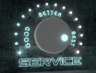 adjust service from good to best