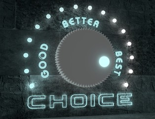 adjust choice from good to best