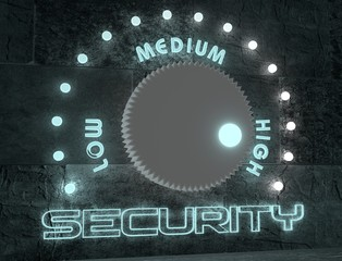 security adjust regulator from low to high