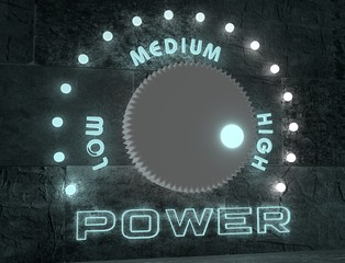 power adjust regulator from low to high