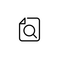 Search File Trendy Thin Line Icon